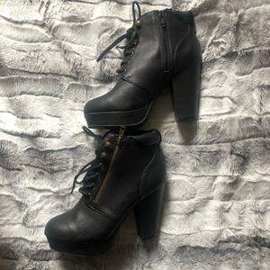 Material Girl Chunky Heel Booties